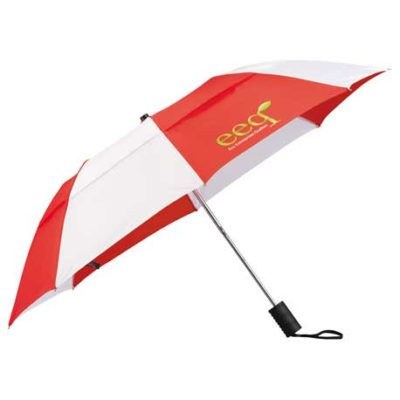 "42"" Vented Auto Open Windproof Slim Stick Umbrella"