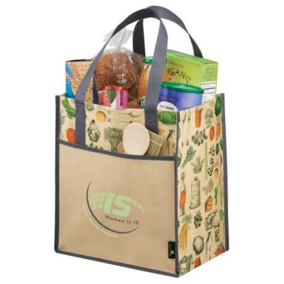Big Grocery Vintage Matte Laminated Non-Woven Tote