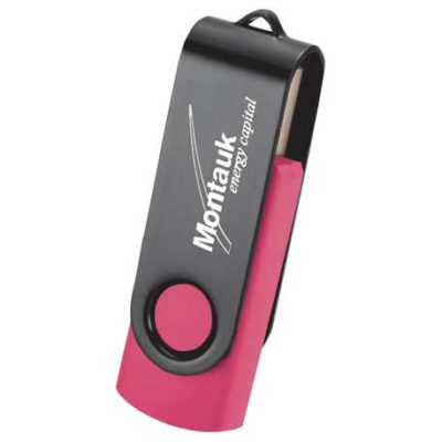Rotate Black Clip Flash Drive 2GB