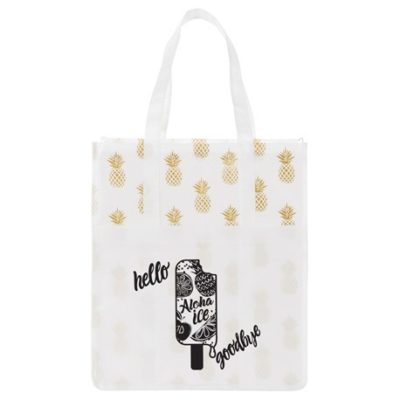 Pineapple Laminated Shopper Tote