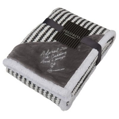 Field & Co.® Chevron Striped Sherpa Blanket