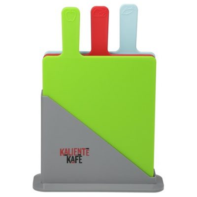 3 Piece Cutting Board Set with Holder
