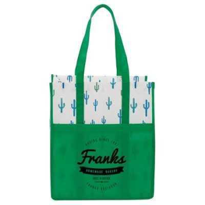 Cactus Laminated Grocery Tote