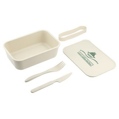 PLA Bento Box with Band and Utensils